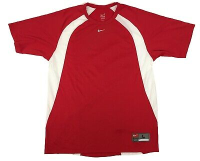 7734d9ae4c0cd NWT Nike Dri-Fit Men's Explosive Tennis Power Crew Shirt Red 243426 LARGE