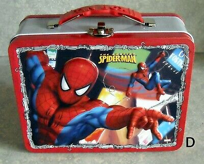 NEW old stock 2008 Spiderman 3D Tin Lunch Box/toy carrier-Marvel (D)