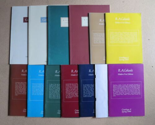 Lot of 13 R.A. Gekoski Catalogues - Modern First Editions - 1-9 +4 Rare Books