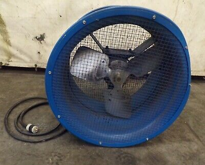 Patterson Industrial Fan High Velocity 18 Blade Diam 1 Ph 12 Hp 24 Wide
