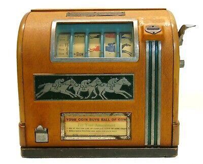 Vintage High Stakes Horse Racing Trade Stimulator Gumball Slot Machine Game