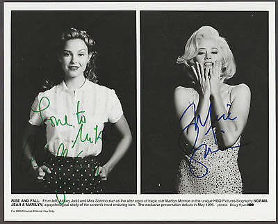 Ashley Judd   Mira Sorvino Signed 8X10 Marilyn Monroe Photo Autograph W Coa Auto
