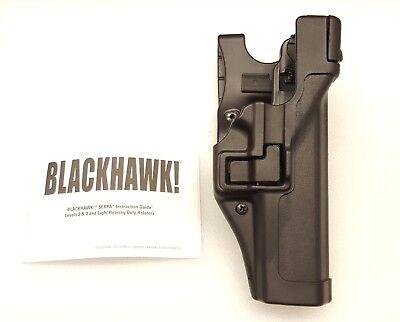 Blackhawk Serpa AutoLock LVL 3 Duty Right Holster Glock 20/21/21SF - 44H113BK-R