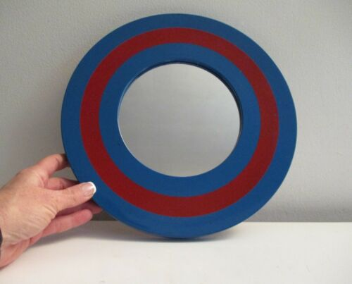 Mid-century Modern Lacquered Mirror Space Age Op Art 1960's Paper Japan Label