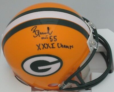 (Packers BERNARDO HARRIS Signed Riddell Mini Helmet AUTO w/ XXXI Champs)