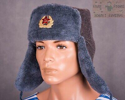 da221957e Russian soldier winter hat Soviet Army Original USSR style size 58 ...