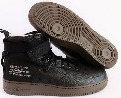 123a1999198 NIKE AIR FORCE 1 SF AF1 MID SPECIAL FIELD BLACK-DARK HAZEL SZ 10.5