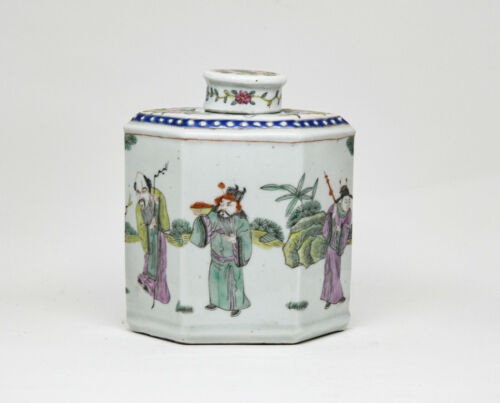 Antique Chinese Porcelain Tea Caddy - 5.5 Inches tall - 🐘