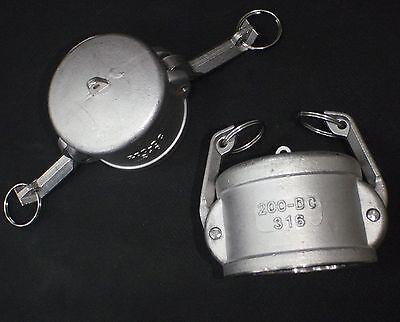 Stainless Steel Cam Lock Cap Dust Cover 2 Female Assembly Clcv200
