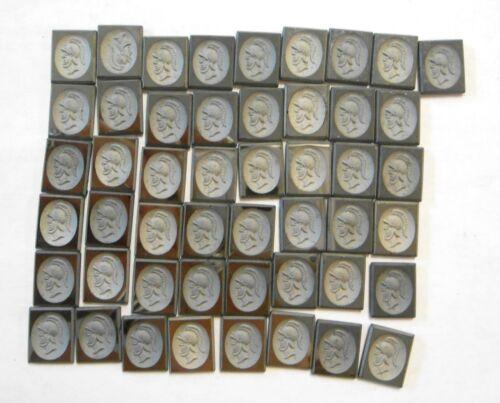49 Hematite Intaglio Cut 11x9mm Stones Greek Roman Warrior for Jewelry Making