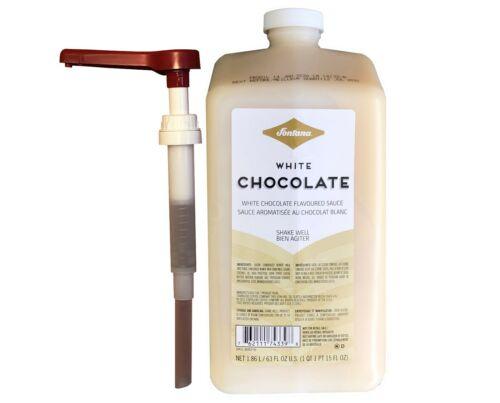 Fontana for Starbucks White Chocolate Mocha Sauce W/Pump 63oz- Best By 6/7/2021