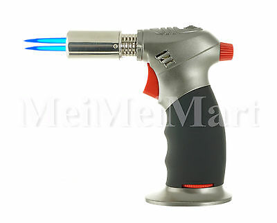 Blue Double Torch Table Top Jet Lighter Butane 1300°C/2500°F Individual Box8