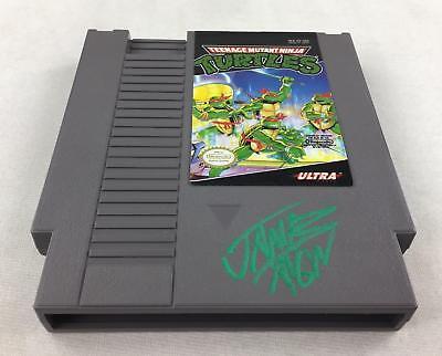 Ninja Turtle Car Games (Nintendo (NES) Teenage Mutant Ninja Turtles AVGN James Rolfe Green Autograph)