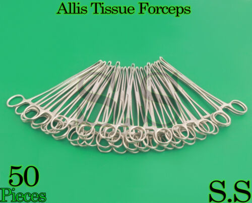 "50 Allis Tissue Forceps 7.5"" 5x6 Surgical Instruments"