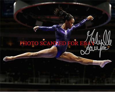Gabrielle Gabby Douglas Autographed 8X10 Rp Photo Olympics Gold Medalist Gymnast