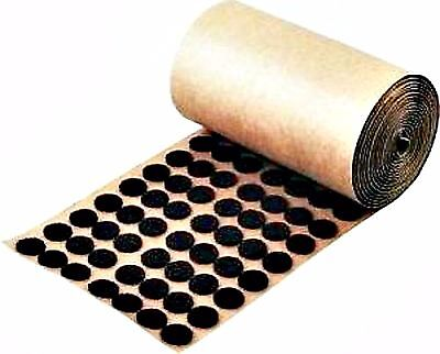 Adhesive Back Felt Buttons 1,000 Brown Dots Pads 1/2