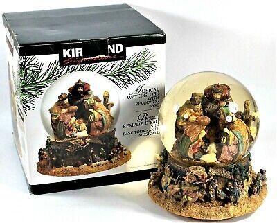 Kirkland Signature Musical Water Globe Revolving Base Snow Globe Nativity Scene