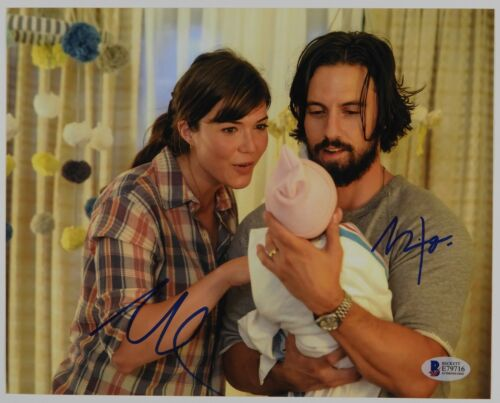 Mandy Moore Milo Ventimiglia This Is Us Autograph Signed Photo Beckett BAS