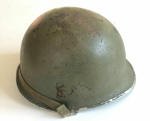 WWII Airborne Paratrooper D-Ring M-2 Helmet Modified to M-1Swivel Bale DEMI LUNE