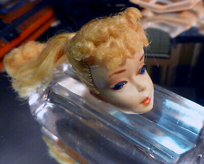 Vintage Barbie Minty #3 Blonde Beauty Ponytail Doll Head  1958 or 1962