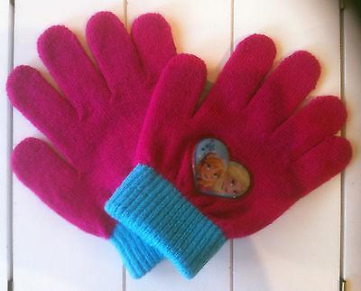 Handschuhe Die Eiskönigin Disney  Anna und Elsa pink ca. 4-8 Jahre 100% Acryl