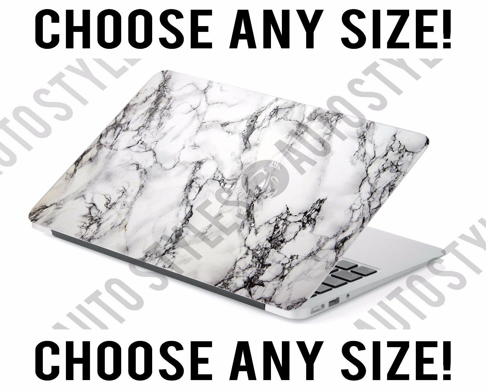 White Marble Modern Universal Laptop Skin Decal Sticker Tabl
