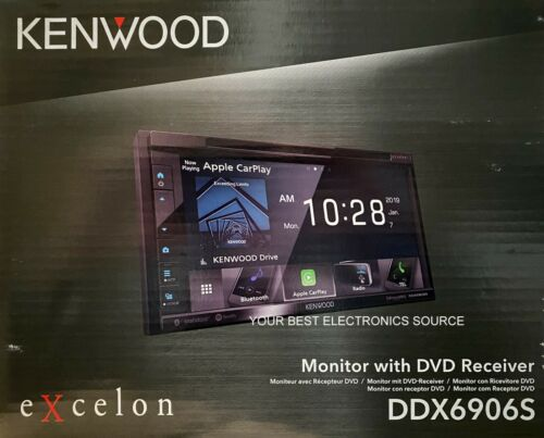 """NEW Kenwood DDX6906S 6.8"""" WVGA DVD Apple CarPlay, Android Auto, Car Receiver"""