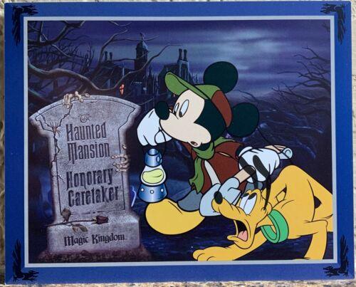 Disney's Haunted Mansion Honorary Caretaker Card Extremely Rare + Bonus