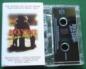 Rock-n-Roll-Love-Songs-Frankie-Avalon-Buddy-Holly-Cassette-Tape-TESTED