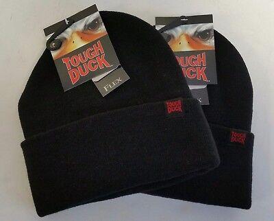 9b194756fc57c0 Tough Duck FX 40 Toque Winter Hat Black i35816 ** Lot of 2 Hats **