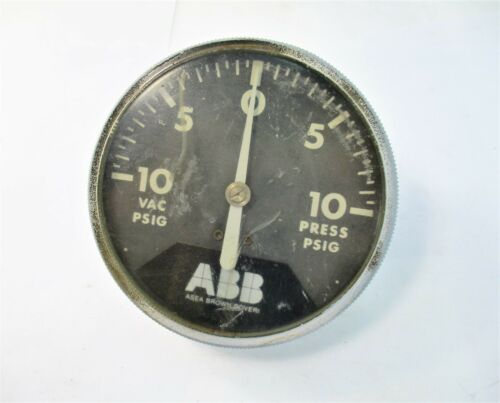 ABB Vacuum / Pressure PSIG Gauge Analog