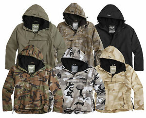 MILITARY-SURPLUS-WINDBREAKER-WATERPROOF-RAIN-ANORAK-COAT-COMBAT-JACKET-TOP