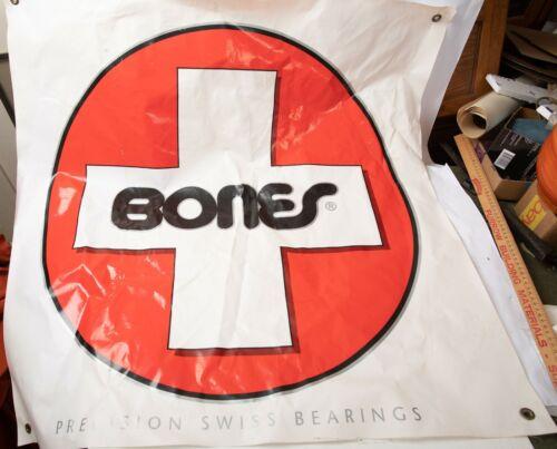Bones Precision Swiss Bearings (M1L) Skateboard White Cross on Red Vinyl Sign