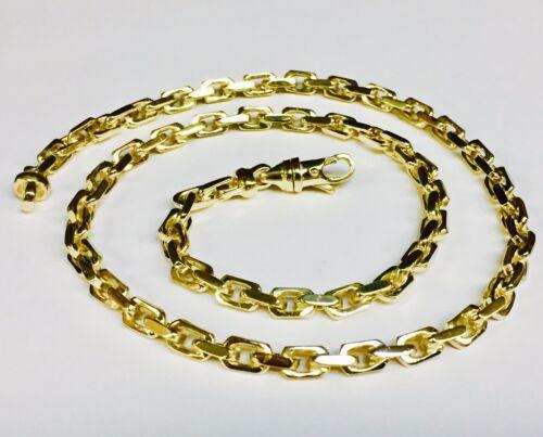 14kt Solid Yellow Gold Handmade Link Men