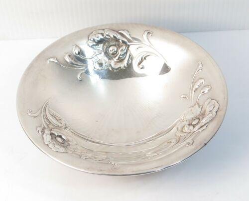 Oneida Community Ltd Gala Silverplate 3-Toed Floral Bon Bon Candy Dish Bowl