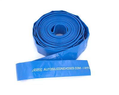 76mm Internal Diameter Blue PVC Lay flat Hose Water Pump Drainage Liquid 50M