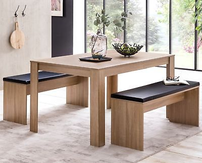 FineBuy Esszimmerset FB51797 Tischgruppe Holz Essgruppe Esstischset 4