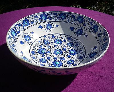 Vintage Kutahya Pottery Bowl 16th C Iznik Design Signed