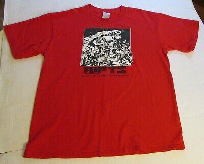 Palladium Books Rifts 2003 Movie Teaser Tee Shirt Red Large RPG Collectible RARE