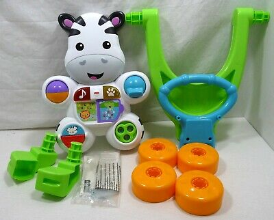Fisher Price Learn w/ Me Zebra Walker Infant to Toddler 6M+ NIOB Lights & Music