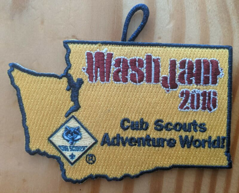 Pacific Harbors Council WASHJAM 2016 Cub Scouts Adventure World Pocket Patch