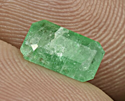 1 Carat Natural Faceted Emerald  Cut Gemstone From Panjsher Afghanistan