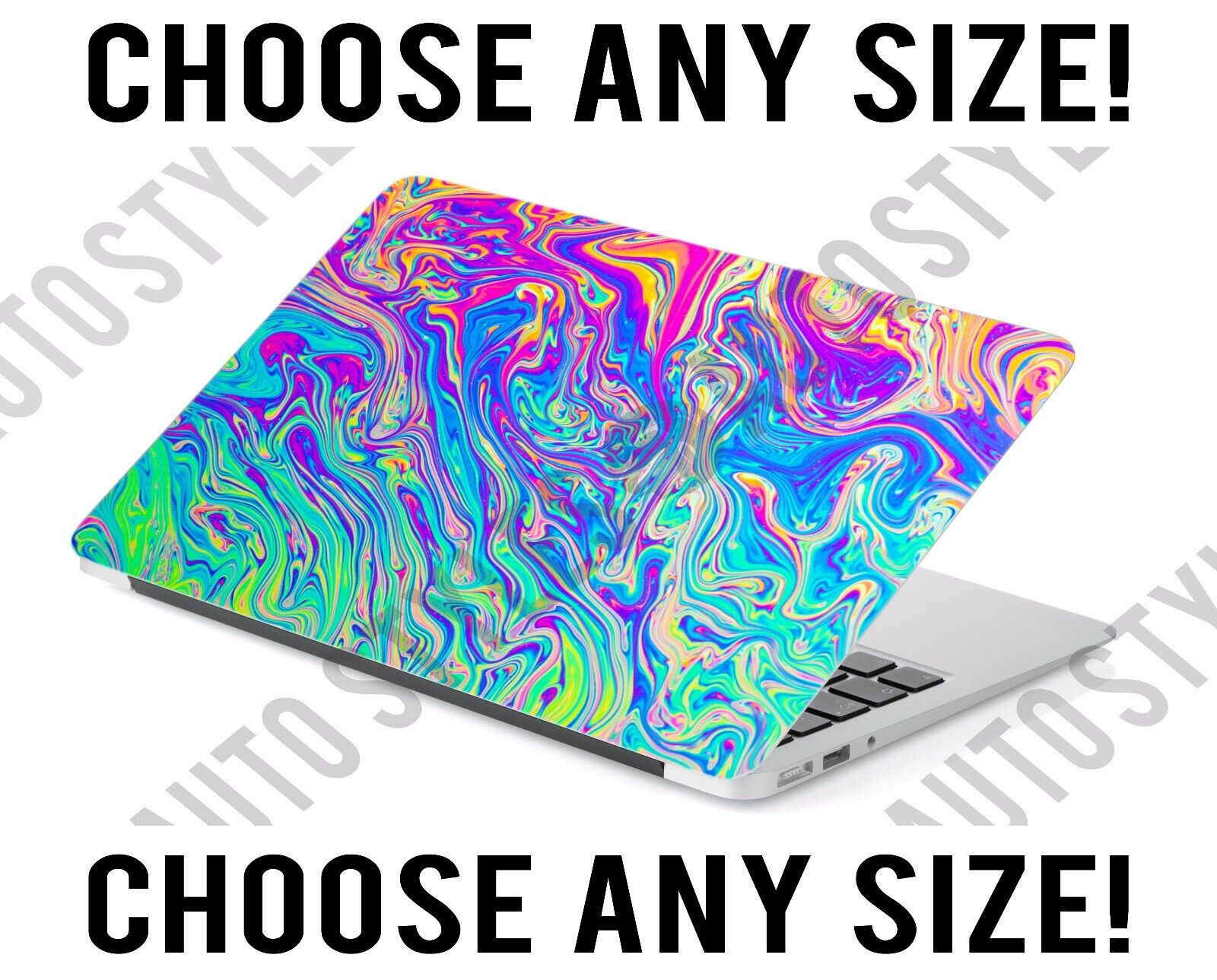 Psychedelic Rainbow Slime Laptop Skin Decal Sticker Tablet S