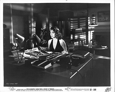 *Vincent Sherman's AFFAIR IN TRINIDAD (1952) Rita Hayworth in Black Dress 8x10