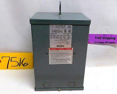 Square D Electrical Transformer 3s1f 3kva 1ph Pri 480-240 Sec 240-120 Type 3r