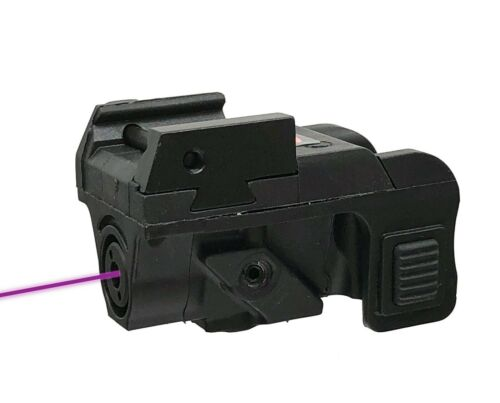 Low Profile HiLight P3P Purple Ambidextrous Laser Sight for Sub-compact or Rail