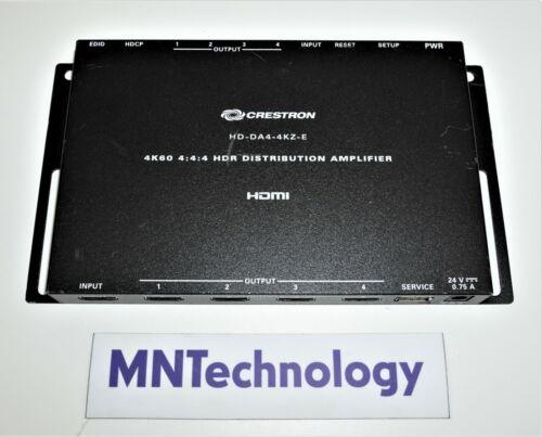 Crestron | HD-DA4-4KZ-E | 1-to-4 4K HDMI Distribution Amplifier