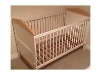 Mamas and papas cot bed with mattress
