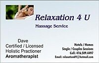 SINGLES / COUPLES MASSAGE SESSIONS