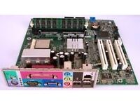 DELL OPTIPLEX 160L MOTHERBOARD WITH MEMORY, PROCESSOR & FACE PLATE